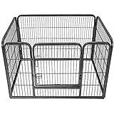 TecTake Parc pour animaux renforce libre et accourent Rectangulaire cage pour animaux
