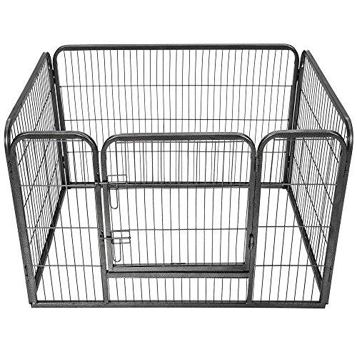Características principales:  Parque para cachorros extraordinariamente estable y robusto.  Ideal también para conejos y mascotas pequeñas.  Montaje sencillo.  Puertas con doble cierre.  Plegado y almacenaje que ahorra espacio.  Datos técnicos:  Tama...