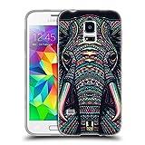 Head Case Designs Elefant Aztekische Tiergesichter 2 Soft Gel Hülle für Samsung Galaxy S5 Mini