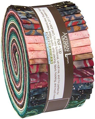 Lunn Studios Artisan Batiks Regal 2 40 2.5-inch Strips Jelly Roll Robert Kaufman Fabrics RU-544-40 by Robert Kaufman Fabrics