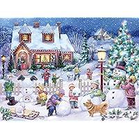 Snowman Celebration Jigsaw Puzzle 550 Piece