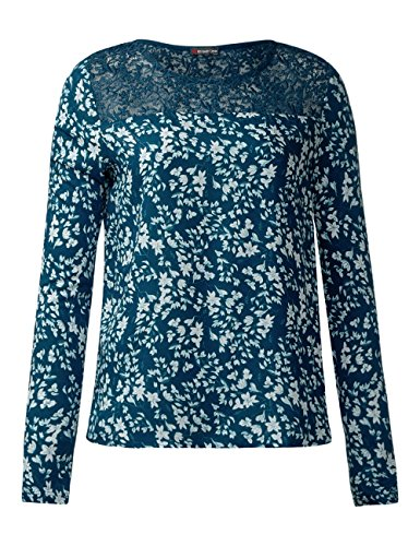 Street One Damen Langarmshirt Türkis (Pacific Blue 20991)