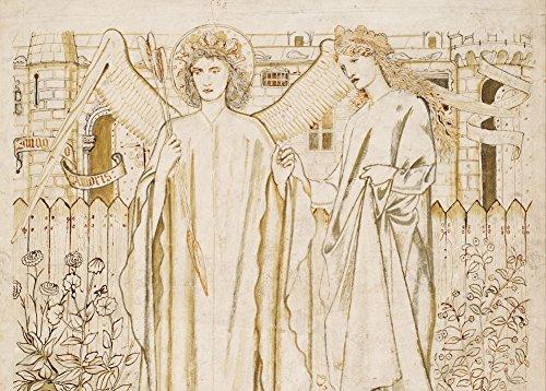 Edward burne-jones Amor und Alkestis, von Chaucer 's 'Legend of Good Frauen' Detail C1864250gsm, Hochglanz, A3, vervielfältigtes Poster