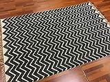 Trendcarpet Teppich 135 x 200 cm (baumwollteppich) - WERA (Schwarz/Weiß) Größe 135 x 200 cm