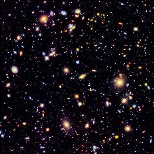 Poster 70 x 70 cm: Hubble Extreme Deep Field von NASA/Science Photo Library - hochwertiger...