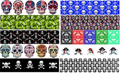 Gitarre Pick Punch Refill Blatt-Skull Edition-Set von 20-Machen Custom Picks mit jeder Gitarre Plektrum Reifenplatzer (Edition Blätter)
