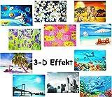 1 STÜCK _ Platzdeckchen / Unterlage / Platzset -  Motive - 3-D Effekt  - 42 cm * 28 cm - Eßunterlage - Tischset / abwaschar - für Erwachsene / Kinder Mädche..