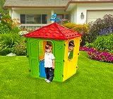 102138 Caseta para jugar COUNTRY PLAY HOUSE de interior y exterior 152x108x108cm