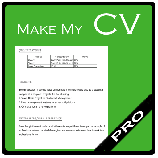 Make My Cv Pro Amazoncouk Appstore For Android
