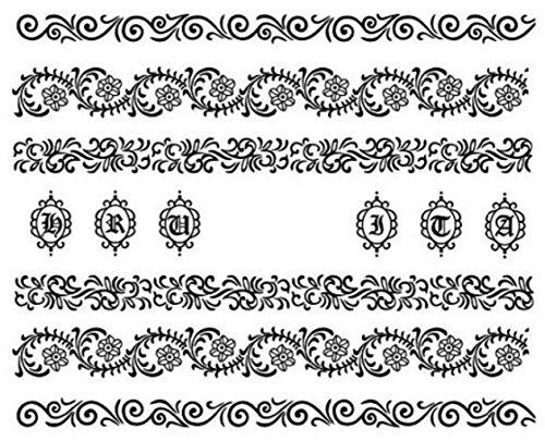 Nail art manucure stickers ongles décalcomanie scrapbooking: fins motifs fleuris