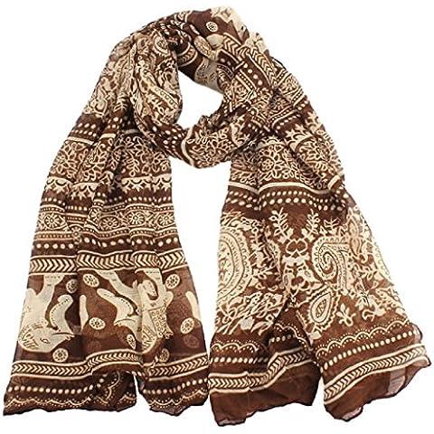 Ularma Moda Nuevas damas cuello estola elefante larga de impresión bufanda chal Pashmina de abrigo