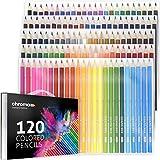 120 Lápices de Color con Estuche portable por Chroma - 120 Colores Únicos - Fácil acceso con 3 bandejas - Un set ideal para Artistas, Adultos y Niños