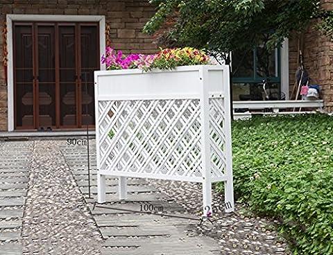 Porte-fleurs, Woody Décoration extérieure Fence coffee restaurant Couper la clôture Anseptic rectangle en bois Grille Flowerway Flower boxes 100 × 90 × 25cm ( Couleur : #3 , taille : 100*90*25cm )