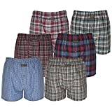 Pack of 12 Knocker Men's Check Boxer Shorts Pants Polly Cotton Underwear Trunks Briefs by MAS International Ltd (Small)