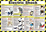 Best Safety Posters - Safety First Aid Electric Shock Poster, Laminated (59x42cm) Review
