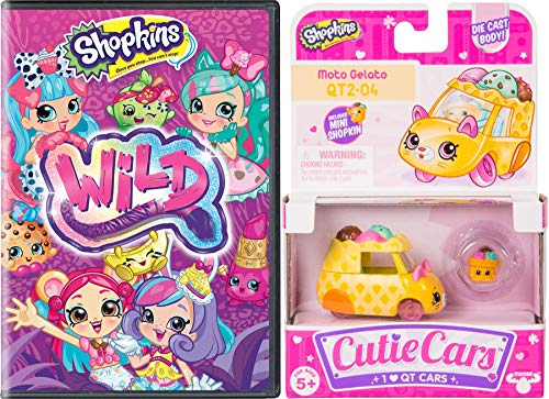 QT Wild Shopkins Car & Toon! Double Pack Wild Style Adventure and 1 Cutie car Grab your boarding pass and ride in your cute vehicle