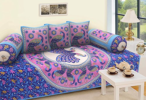 RajasthaniKart Traditional 6 Piece Diwan Set - 100%Cotton  available at amazon for Rs.399