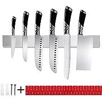 TOPSEAS Barre Magnétique pour Couteaux,40 cm Porte-Couteaux Magnétique en Acier Inoxydable,Mural Support Aiguiseur de…