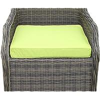 Coussin pour mobilier de jardin - Coussin d'assise pour grand fauteuil de jardin, coloris citron vert