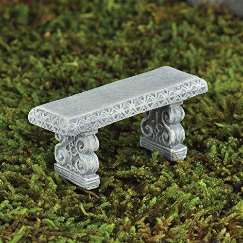 Fiddlehead Fairy Garten-Bank mit Deko-Miniatur-Dekoration, für die Feen Elfen Hobbits, Trolls