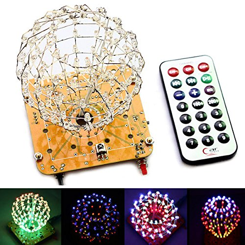 DIY Sphärische Spectrum leuchtstoffglühbirne Cube LED Flash Kit Electronic Learning Kits