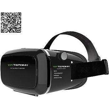 Tepoinn 3D VR Réalité Virtuelle Lunettes pour 4.0,5-5,7 pouces Smartphones