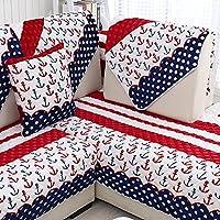 flanella divano cuscini/Inverno europeo peluche tappetino antiscivolo in tessuto/ telo di copertura semplice e moderno divano-A 70x70cm(28x28inch)