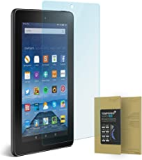 doupi Amazon Fire 7 Zoll ( 2015 ) Panzerfolie, Premium 9H Hartglas HD Display Schutz Glasfolie