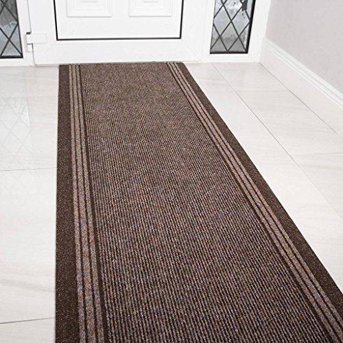 Braun Gummi Rückseite sehr lange Flur Hall Runner schmal Teppiche Custom Länge-Verkauft und Preis pro Fuß, braun, Length: 9' (274cm)