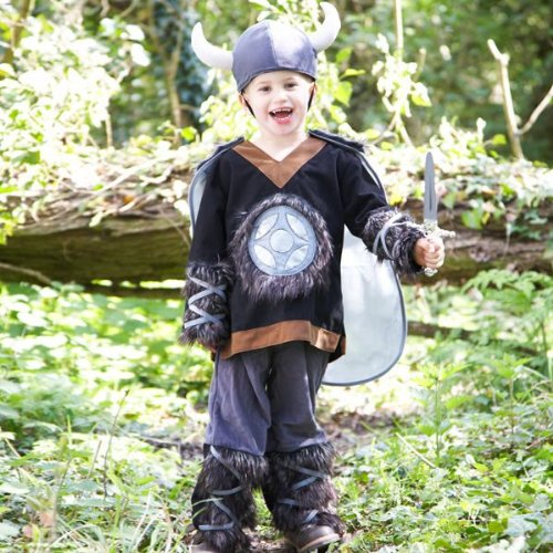 Kids Viking Nordic Warrior Kostüm Historische Kulturelle Fancy Kleid Kostüm Gr. 6bis 8Jahren