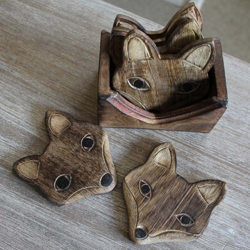 set-of-6-carved-wooden-fox-coasters-in-wooden-stand-by-melody-maison