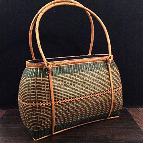 Preisvergleich Produktbild GLF Rattan Weave Retro Tasche