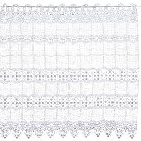 Plauener Spitze 69348_90_w - Visillo (100% poliéster, altura: 90 cm), color blanco