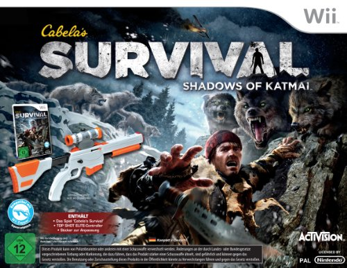 Top-shot-elite-wii (Cabela's Survival: Shadows of Katmai (Bundle inkl. Top Shot Elite Gun Controller))