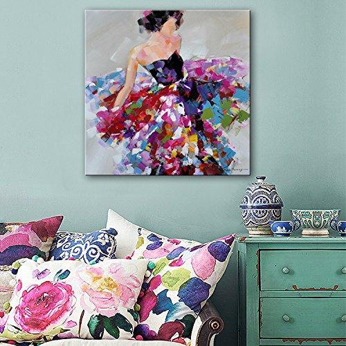 Cómo usar LEMMA usan falda mujer de tamaño pequeño, decorado con pinturas al óleo pintado a mano y ninguna animación de cuadros en el salón restaurante pasillo ,25*25 Estudio