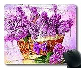 (genaue - kante - mousepad) blumen und zierpflanzen Flieder - Kunst 071260 Gaming - Maus abstraktion der Mac - oder der computer mouse pad.