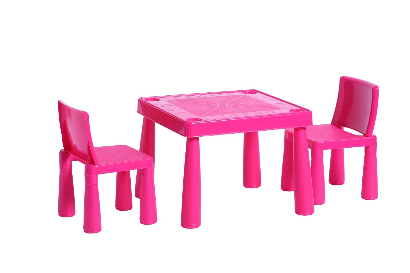 Childrens Kids Plastic Garden Outdoor Or Indoor Table And 2 Chairs Set For  Boys Or Girls (Pink): Amazon.co.uk: Kitchen U0026 Home