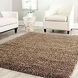 "BRAVICH RugMasters Mocha/Dark Beige Large Rug 5cm Thick Shag Pile Soft Shaggy Area Rugs Modern Carpet Living Room Bedroom Mats 140x200cm(6'7"" x4'7)"