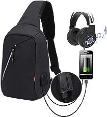 FOONEE Anti-Theft Reise-Rucksack-Geschäfts-Laptop-Schulbuchtasche mit USB-Ladehafen, Wasserdichter Daypack für Studenten-Arbeits-Männer U. Frauen-Grau