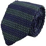 BOBORA Gli uomini ragazzo maglia cravatta stretta esile tessuto a strisce cravatte strette
