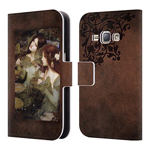Offizielle Brigid Ashwood Wasserhaus 6 Präraffaeliten 2 Brieftasche Handyhülle aus Leder für Samsung Galaxy J1 (2016)
