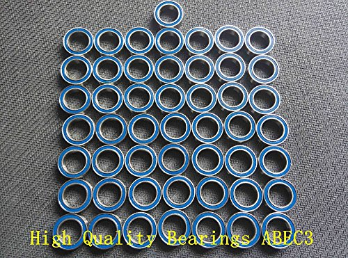 Generic Free shipping 50PCS 8x16x5 Blue Rubber Seals bearing 688 2RS ABEC3 8X16X5mm Model bearing Motor bearing