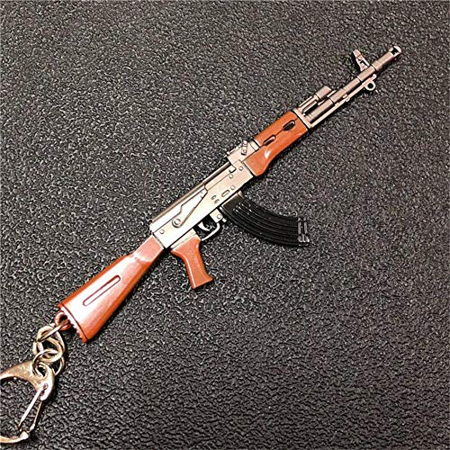 mougu8003 Pubg Llavero Juego Arma Metal 98K Gun AWM Colgante Hecho a Mano Ak47