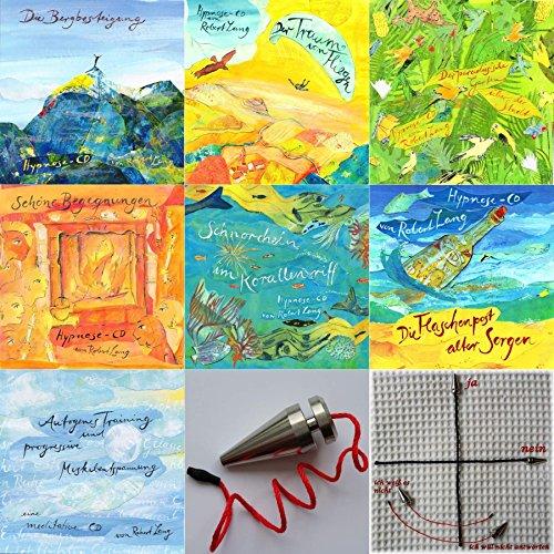 Preisvergleich Produktbild Sparpaket 7 Meditation-CDs mit Atem-Entspannung,  Hypnose,  autogenes Training,  progressive Muskelentspannung + 1 Pendel zur Traumdeutung