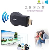 SHOPTOSHOP Wireless WiFi 1080P HDMI Display TV Dongle Receiver Supports Windows iOS, Android - (Black)