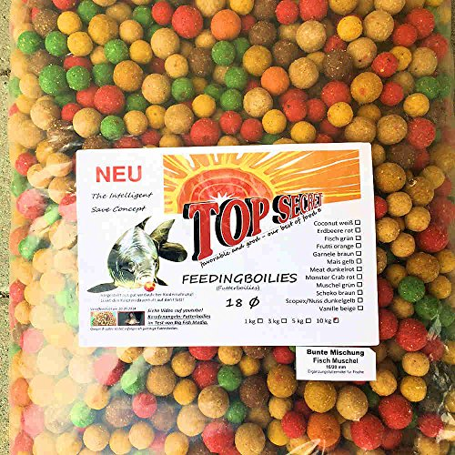 Top Secret Futterboilie 10Kg 16-20mm Sonderaktion Fisch-Mix