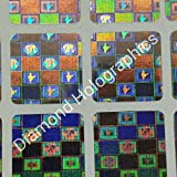 #7: Diamond Hologram Stickers India and World Map, 15mm x 15mm, 4050 pcs with Curved Edges