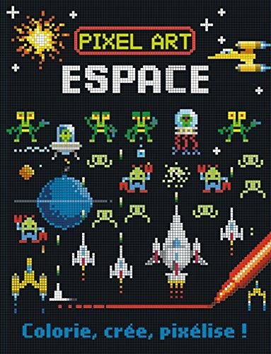 pixel art espace - colorie  cr u00e9e  pix u00e9lise  joshua george