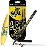 Maybelline New York Colossal Kajal, Super Black, 0.35g And Maybelline New York Hypercurl Mascara Waterproof, Black, 9.2ml