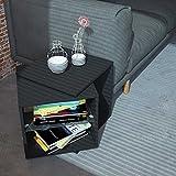 Rotating Tabel schwarz drehbarer Tisch verstellbar Drehtisch Couchtisch Beistelltisch Couchtisch Blumenhocker Nachtkommode